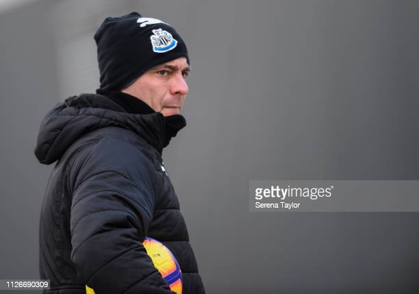 Under 23 Goalkeeping Coach Steve Harper during the Newcastle United Training session at the Newcastle United Training Centre on February 01 2019 in...
