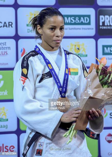 Under 48kg bronze medallist Taciana Cesar of GuineaBissau during the 2017 The Hague Judo Grand Prix at the Sportcampus Zuiderpark on November 17 2017...