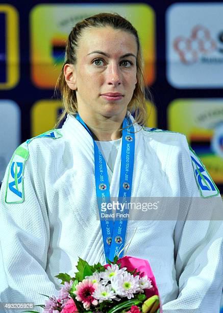 Under 48kg silver medallist, Charline Van Snick of Belgium, during the 2015 Paris Grand Slam on Saturday at the Bercy-Paris Arena, Bercy, Paris,...