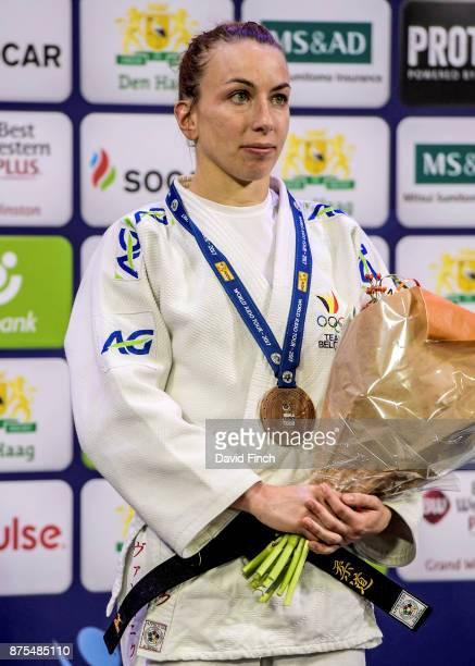 Under 52kg bronze medallist, Charline Van Snick of Belgium during the 2017 The Hague Judo Grand Prix at the Sportcampus Zuiderpark on November 17,...