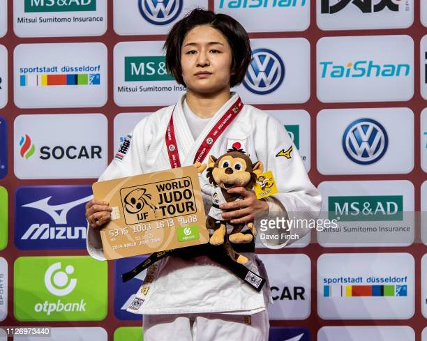 Under 57kg gold medallist Tsukasa Yoshida of Japan during the 2019 Dusseldorf Grand Slam at the ISS Dome Dusseldorf Germany on February 22