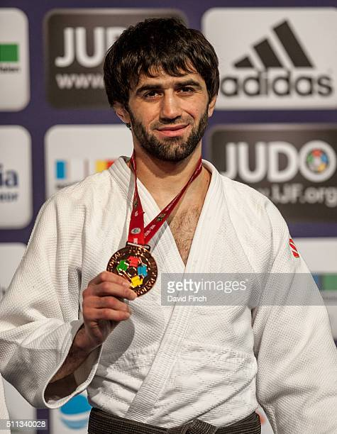 Under 60kg bronze medallist, Beslan Mudranov of Russia during the 2016 Dusseldorf Judo Grand Prix on Friday, February 19 at the Mitsubishi Electric...