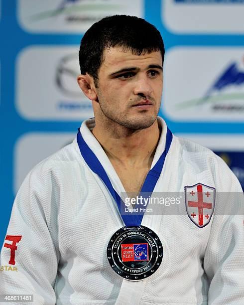 Under 60kg silver medallist, Amiran Papinashvili of Georgia during the Paris Grand Slam on day 2, Saturday, February 08, 2014 at the Palais...