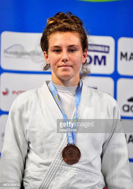 Under 70kg bronze medallist Emma Reid of Great Britain during the 2015 London European Cup at Wembley Arena London England United Kingdom