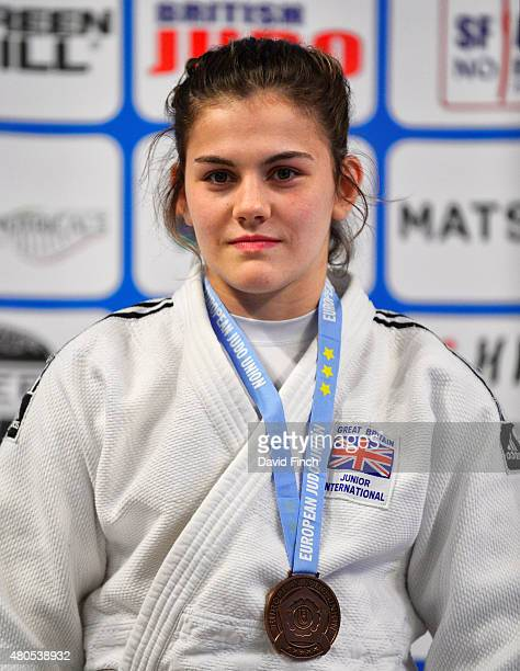 Under 70kg bronze medallist Jemima YeatsBrown of Great Britain during the 2015 London European Cup at Wembley Arena London England United Kingdom