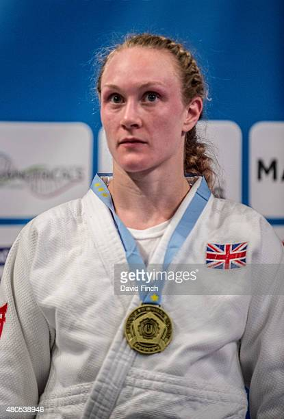 Under 70kg gold medallist Gemma Howell of Great Britain during the 2015 London European Cup at Wembley Arena London England United Kingdom