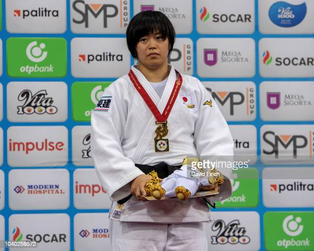 Under 78kg gold medallist Shori Hamada of Japan during day six of the 2018 Judo World Championships at the National Gymnastics Arena on September 25...