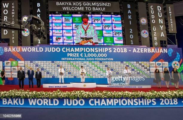 Under 78kg medallists LR Silver Guusje Steenhuis the Netherlands Gold Shori Hamada of Japan Bronzes Marhinde Verkerk of the Netherlands and...