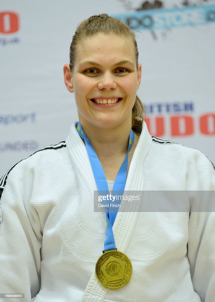 Under 78kgs gold medallist Iris Lemmen of the Netherlands during day 2 of the London British Open Judo Championships at the K2 on May 12, 2013 in Crawley, United Kingdom.