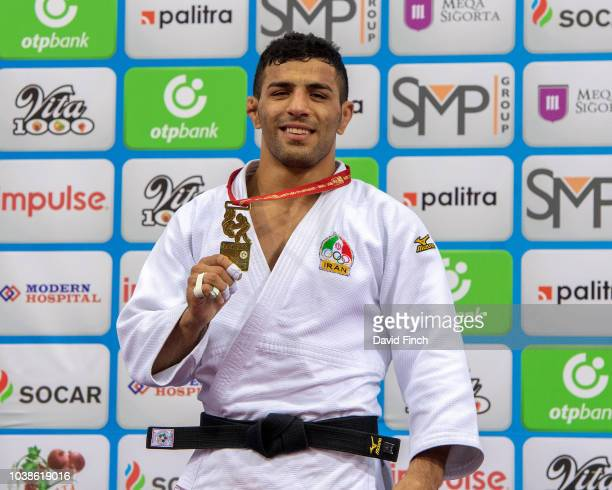 Under 81kg gold medallist Saeid Mollaei of Iran during day four of the 2018 Judo World Championships at the National Gymnastics Arena on September 23...