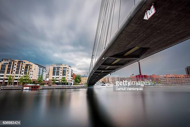 Under a bridge in Tampere city Finland