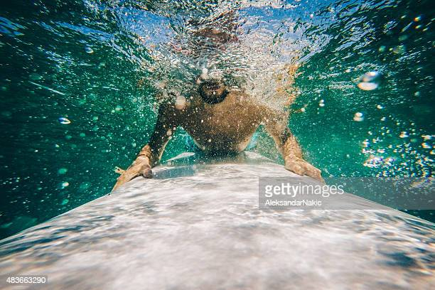 Under a wave