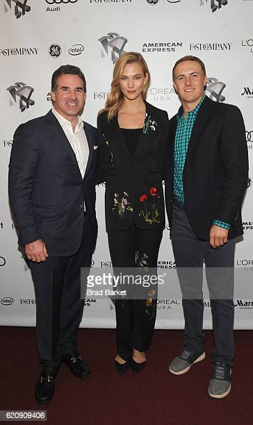 Under Armour CEO Kevin Plank Model Karlie Kloss and Golfer Jordan Spieth attend the Fast Company Innovation Festival 2016 Under Armour CEO Jordan...