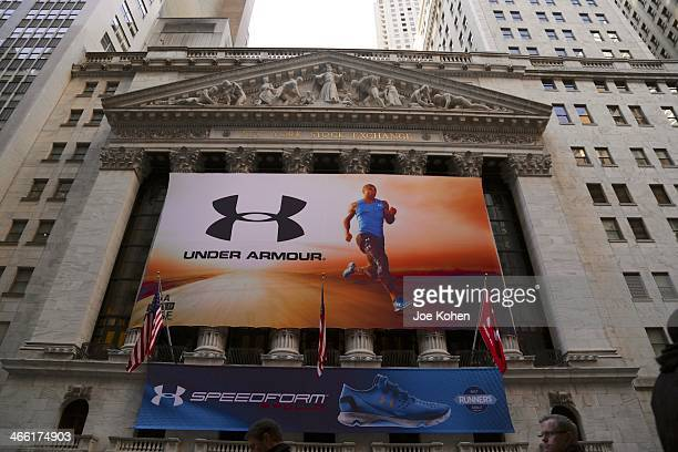 Under Armour Introduces Speedform Apollo Running Shoe at the New York Stock Exchange on January 31, 2014 in New York City.