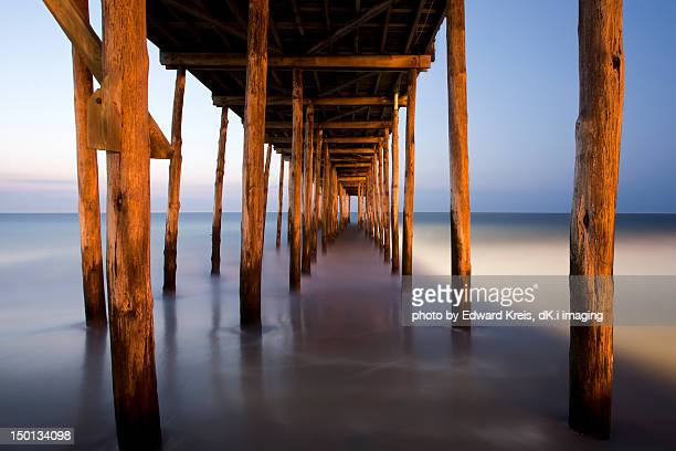 under boardwalk - ocean city maryland stock pictures, royalty-free photos & images