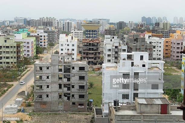 Under construction residential building at Rajarhat area on April 30 2015 near Kolkata India This new information technology and residential hub...