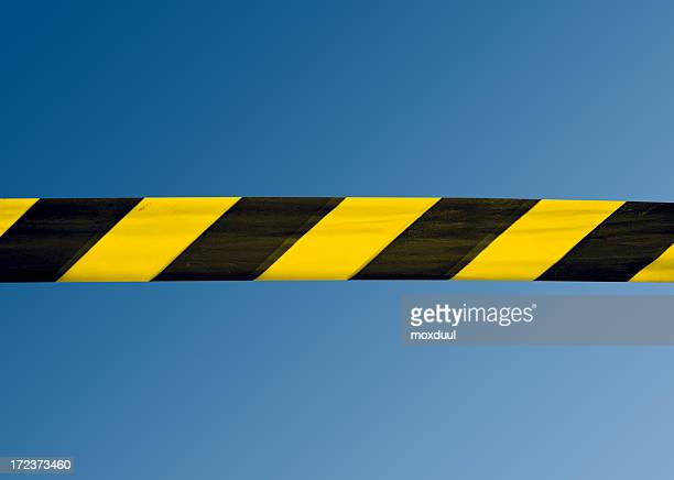 under construction tape - cordon tape stock pictures, royalty-free photos & images