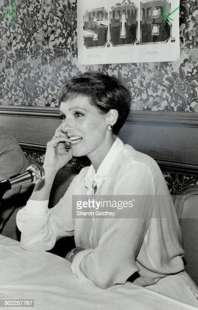 Under fire Julie Andrews above at press conference held recently in Toronto to promote her new movies SOB didn't have to bare her breasts to increase...