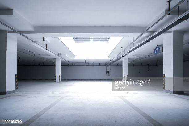 under ground parking lot for car commercial background - building story stock pictures, royalty-free photos & images