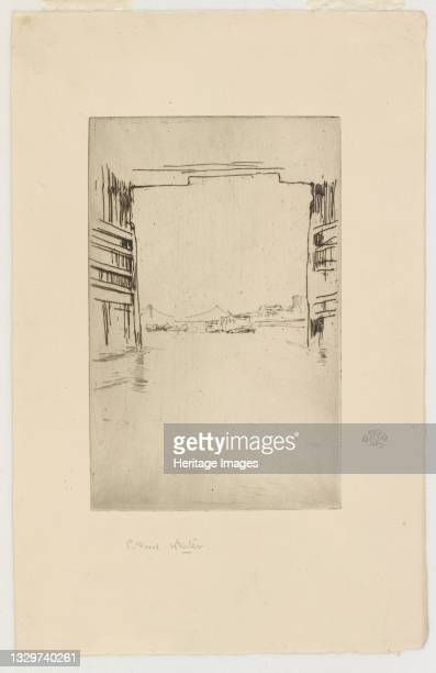 Under Old Battersea Bridge, 1879. Artist James Abbott McNeill Whistler.