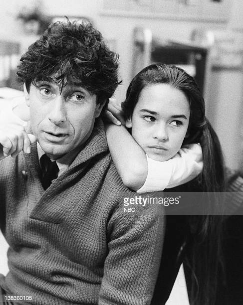 ST ELSEWHERE Under Pressure Episode 6 Pictured Paul Sand as Dr Michael Ridley Sydney Penny as patient