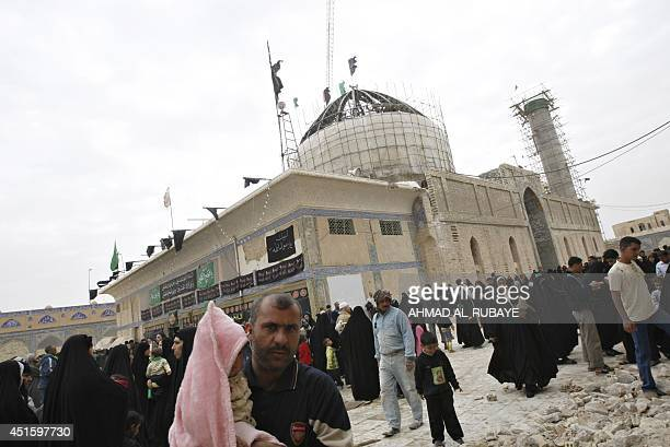 Under repair pilgrims visit the alAskari Shrine which embraces the tombs of the 10th and 11th Imams Ali AlHadi and his son Hassan AlAskari in the...