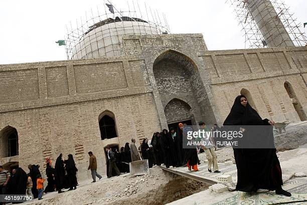 Under repair pilgrims visit the AlAskari which embraces the tombs of the 10th and 11th Imams Ali AlHadi his son Hassan AlAskari in the northern...