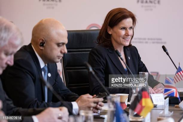 US under Secretary of Homeland Security Claire Grady attends a meeting at the Ministry of Interior Place Beauvau in Paris on April 4 2019 to prepare...