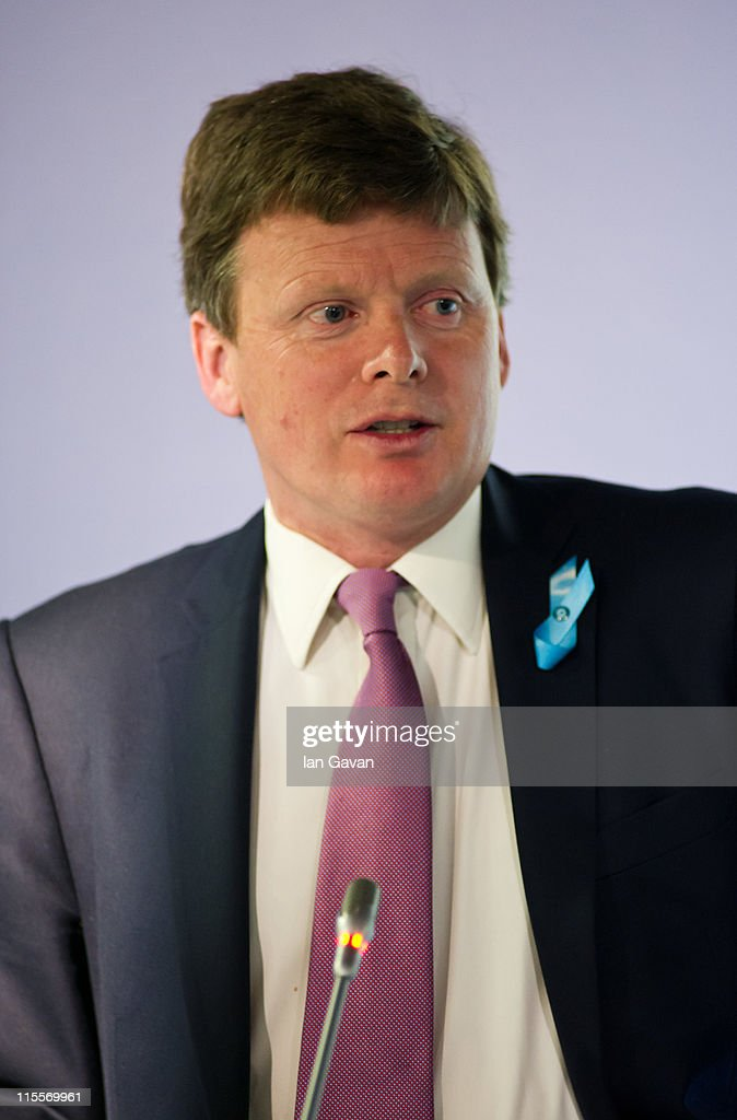 UK Under Secretary of State for Natural Environment and Fisheries, Richard Benyon speaks during the launch of the 19th World Oceans Day at Selfridges Ultralounge on June 8, 2011 in London, England. World Oceans Day is held for the first time at Selfridges and will be attended by members of Parliament from across the European Union.