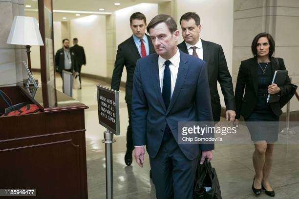 Under Secretary of State for Political Affairs David Hale departs the US Capitol after giving a closeddoor deposition to the House committees...