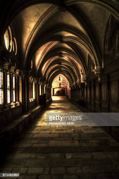 under the arc - cloister stock pictures, royalty-free photos & images