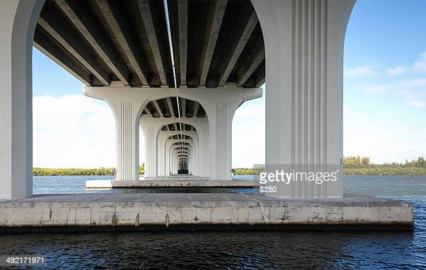 under the barber bridge at vero beach - vero beach stock pictures, royalty-free photos & images