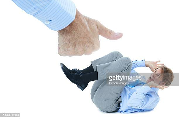 under the boss's thumb - hugging knees stock pictures, royalty-free photos & images