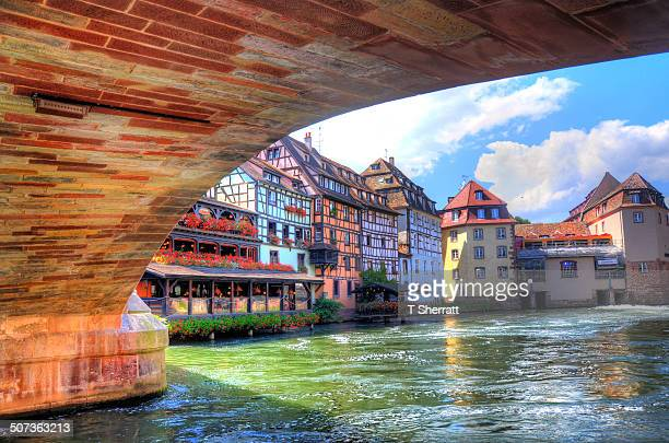 Under the bridge in stasbourg france