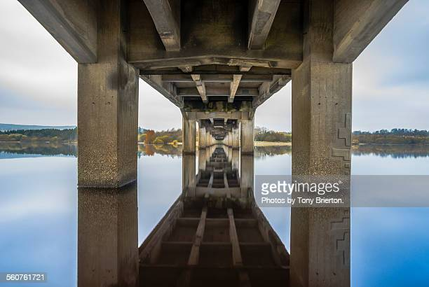 under the bridge. - asymmetry stock pictures, royalty-free photos & images