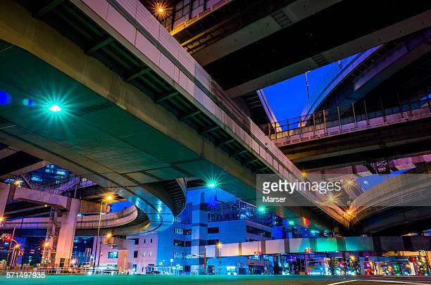 Under the elevated highways