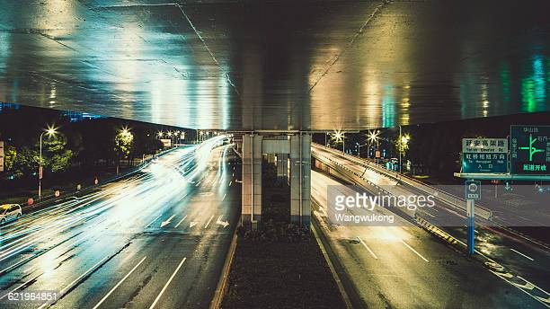 under the elevated road, Shanghai.
