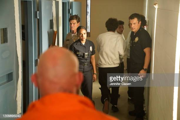 THE ROOKIE Under the Gun Officers Nolan and Harper are tasked with escorting four juvenile offenders to a Scared Straight program at a correctional...