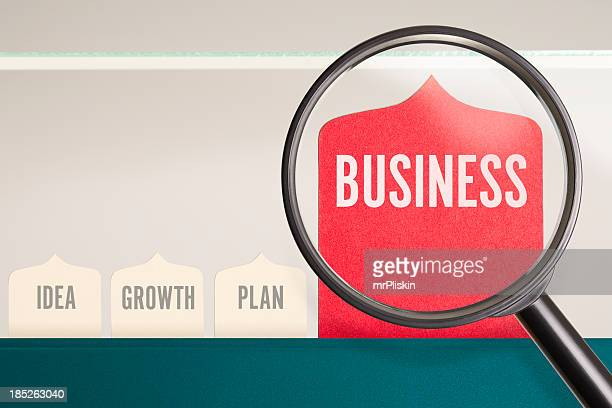BUSINESS under the magnifying glass