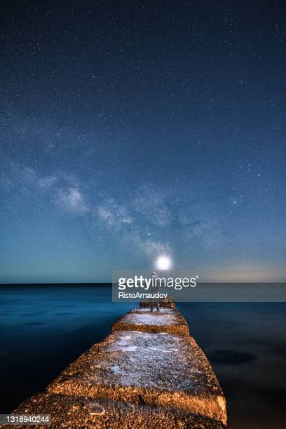 under the milky way - space and astronomy stock pictures, royalty-free photos & images