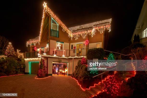 Under the motto 'Light a dream' the Voss family have decorated their house in Mayen Germany 15 December 2014 1900 meters of chains of lights...