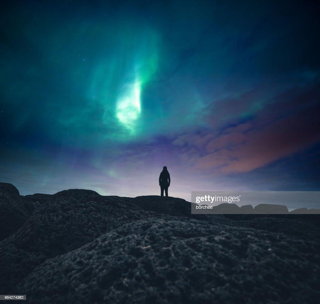 Unter dem Nordlicht : Stock-Foto
