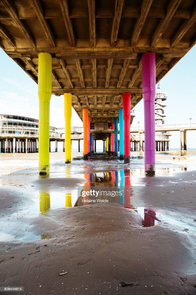 Under the Pier of Scheveningen : Stock Photo