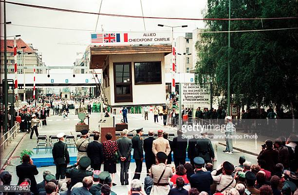 Under the presence of representatives of the Allied Forces that occupied Germany after World War II Berlin�s most famous border crossing Checkpoint...