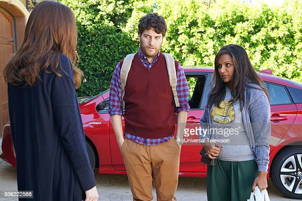 PROJECT Under the Texan Sun Episode 421 Pictured Adam Pally as Peter Prentice Mindy Kaling as Mindy Lahiri