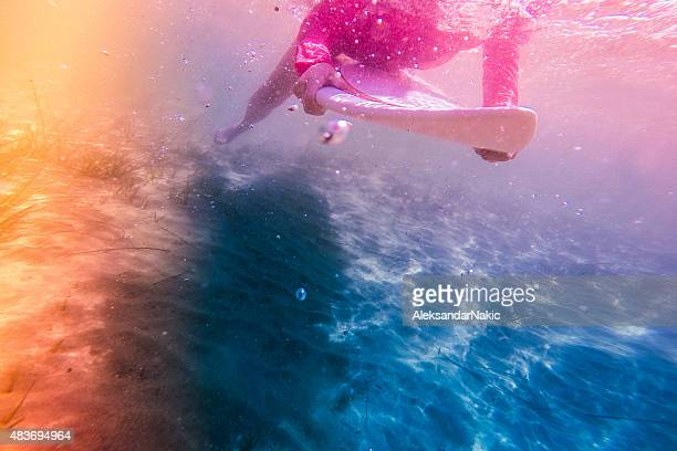 under the water - down blouse stock photos and pictures