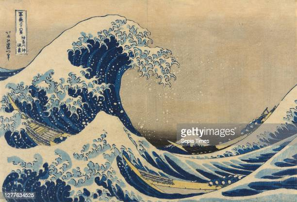 Under the Wave off Kanagawa , also known as The Great Wave, from the series Thirty-Six Views of Mount Fuji , 1830/33, Katsushika Hokusai, Japanese,...