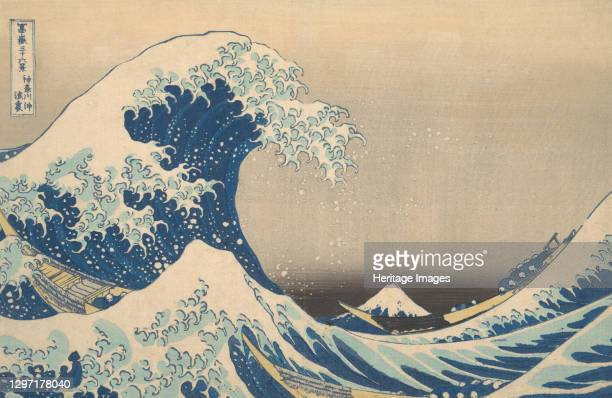 Under the Wave off Kanagawa , also known as The Great Wave, from the series Thirty-six Views of Mount Fuji , circa 1830-32. Artist Hokusai.