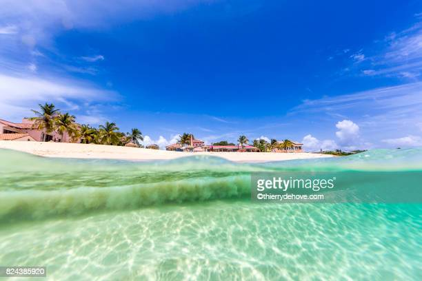 Under water from Meads Bay in Anguilla Beach, Caribbean