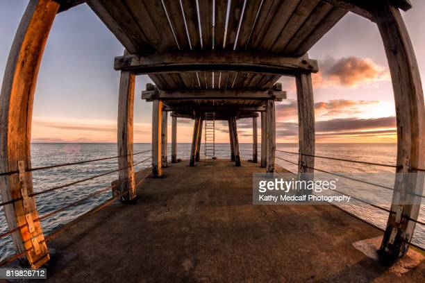 under west pier - kathy west stock pictures, royalty-free photos & images